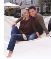 Donny Osmond and Debra Osmond